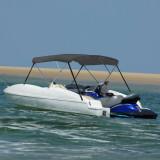 Parasolar barcă Bimini cu 3 arcuri, antracit, 183x140x137 cm, vidaXL