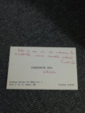 Cartea de vizită a romancierului Constantin Țoiu semnată olograf