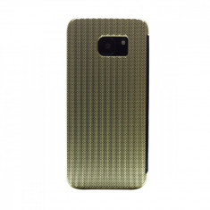 Husa hard book Samsung Galaxy S7 Edge Auriu