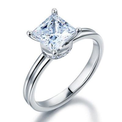Inel de Logodna Borealy Aur Alb 14 K Moissanite Diamond foto