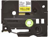 Banda continua laminata flexibila Brother TZEFX631 12mm 8m Negru pe Galben