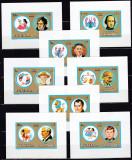 DB1 Pictura Fujeira Zodiac Zodii Personalitati Napoleon da Vinci 12 SS lux MNH
