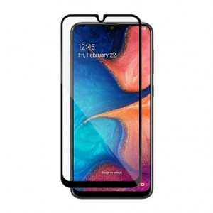 Tempered glass vetter, samsung galaxy a20, full frame and glue tempered glass vetter go, black