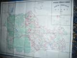 Harta mare a Judetului NEAMT -  RSR 1983 dim.= 138x107cm ,scara 1:100 000