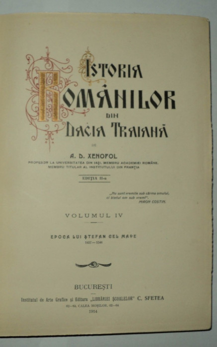 Istoria romanilor din Dacia Traiana, Xenopol, vol 4, Epoca lui Stefan cel Mare