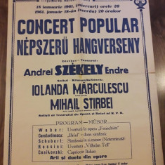 Afis Filarmonica Targu Mures 1961 RPR comunist