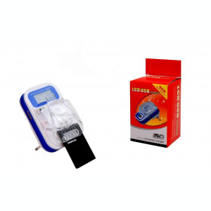Incarcator universal de acumulator - baterie telefon cu afisaj LCD si USB