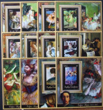 R.CENTRAFRICANA-PICTURA,DEGAS-12 COLITE**  R.C.Af.002
