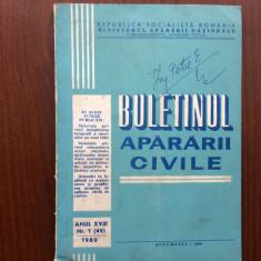 Buletinul apararii civile nr 1 1980 MAN RSR epoca de aur ilustrat desene