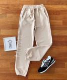 Cumpara ieftin Pantaloni dama lungi crem cu elastic si buzunare