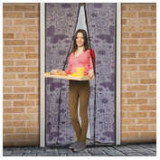 Perdea anti-ţânţari pt. uşi cu închidere magnetică 100 x 210 cm, Model fluturi violeţi ManiaMall Cars