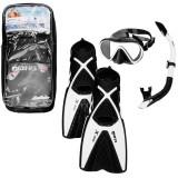 Set scufundare labe de înot, mască, tub Freediving X One Negru-Alb Adulți
