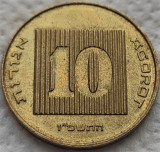 Moneda EXOTICA 10 AGOROT - ISRAEL, anul 1986 *cod 1046, Asia