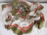 Brand  FURNKRANZ  COUTURE  Austria  -  esarfa noua matase naturala 90 x 90 cm,, Din imagine