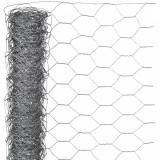 Nature Plasă din sârmă, 0,5 x 5 m, oțel galvanizat, 25 mm, hexagonal