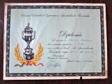 Diploma veche, Romania 1959 - Spartachiada Tineretului