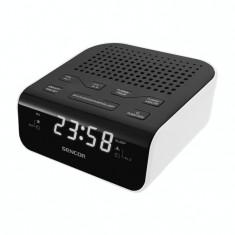 Radio cu ceas Sencor SRC 136 WH White
