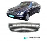 Grila radiator Mercedes E CLASS W211 2004|2005|2006 negru/crom, Mercedes-benz, E-CLASS (W211) - [2002 - 2008]