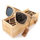 Ochelari de soare din lemn Bobo Bird AG007, lentila gri Wooden Lux
