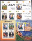 DB1 Pictura Post - Impresionism Vincent Van Gogh Burundi set + 5 MS + SS MNH ndt, Nestampilat