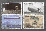 Guyana 1989 Zeppelins Mi.2485-88 used M.066