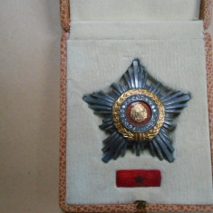 Ordinul Steaua Republicii, cl. IIi, cutie si brevet, semnat Ceausescu, perfect