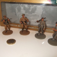 Set 4 soldati German Grenadiers - US Infantry KASSERINE - WW II scara 1:32, peste 14 ani, Unisex