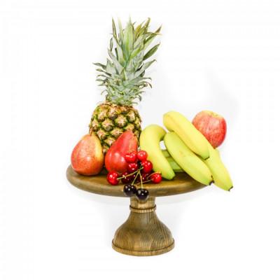 Suport din lemn pentru tort,prajituri,fructe foto