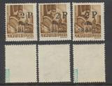 1945 ROMANIA Posta Salajului lot 3x timbru local original 2P/10f MNH