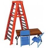 Accesorii WWE - Set scara, masa si scaune (portocaliu), Mattel