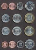 VENEZUELA SET COMPLET MONEDE 1, 5, 10, 12 1/2, 25, 50 Ct 1 Bolivar 2007-2012 UNC