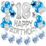 Set 33 baloane pentru petrecere, aniversare HAPPY BIRTHDAY - 18, Oem