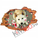 "Sticker ""Wall Crack"" Dog 6 - 120 x 80 cm"