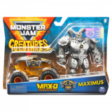 Set macheta Monster Jam Creatures - Max D si Maximus, 1:64