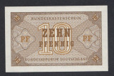 A4848 Germany Germania 10 pfennig ND 1967 UNC