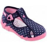 Sandale pentru exterior si interior, RenBut, Fete, 20 - 27, Albastru