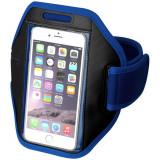 Suport telefon pentru brat, sport, Everestus, STT058, poliester, albastru, laveta inclusa