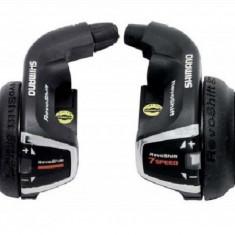 Set manete schimbator 3x7viteze Shimano Tourney set stanga RS31+dreapta RS-35 RePB Cod:SHI-83752