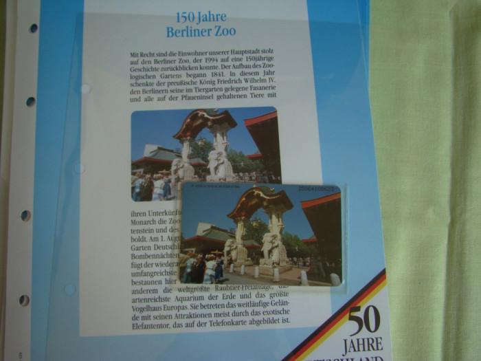 """3 Cartele Telefonice """"50 Jahre Deutschland"""" - Exponate NOI / 14"""