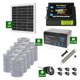 Pachet Gard electric 6,6j putere cu Panou Solar si 10.000m de fir 120Kg