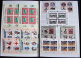 Clasor vignete moderne 53 blocuri + 26 colite, viniete Romania 1995-2000