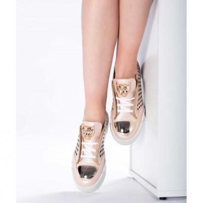Pantofi piele naturală 40 Roz foto