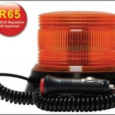 Girofar LED Galben cu lentile exterioare Fresnel si prindere