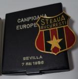 Placheta Steaua Bucuresti - 1986 Sevilla - Finala C.C.E. - medalie