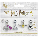 Set charmuri placate argint licenta Harry Potter
