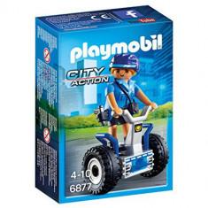 Set Playmobil City Action Police, Politista cu Vehicul pe Doua Roti
