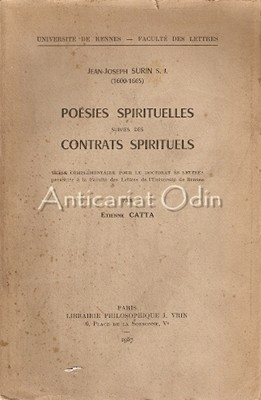 Jean-Joseph Surin S. J. (1600-1665) Poesies Spirituelles - Etienne Catta