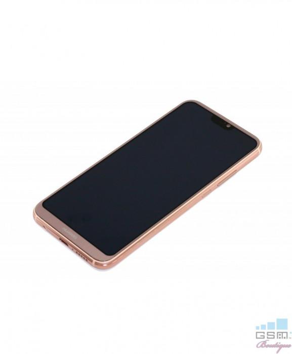 Ecran LCD Display cu RAMA Huawei P20 Lite Roz