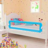 VidaXL Balustradă protecție pat copii, albastru, 120x42 cm, poliester