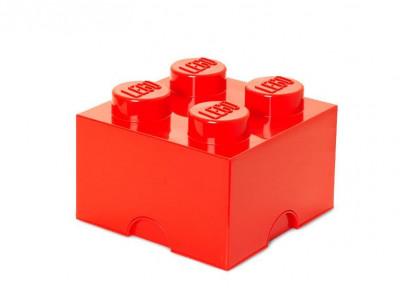 Cutie depozitare LEGO 2x2 - Rosu foto